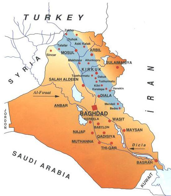 ırak harita türkmen