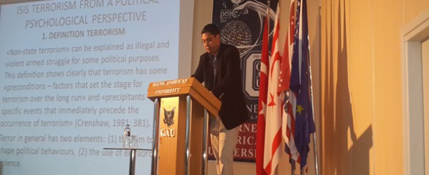 "DR. OZAN ÖRMECİ'DEN YENİ SUNUM: ""ISIS TERRORISM FROM A POLITICAL PSYCHOLOGICAL PERSPECTIVE"""