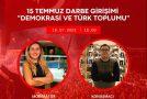 """DOÇ. DR. OZAN ÖRMECİ'DEN YENİ KONFERANS: """"15 TEMMUZ DARBE GİRİŞİMİ: DEMOKRASİ VE TÜRK TOPLUMU"""""""