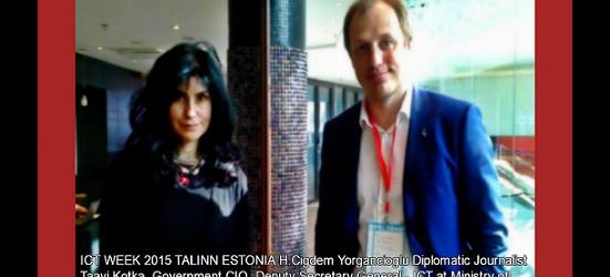ICT WEEK 2015 TALINN ESTONIA: CHRONICLES OF CIGDEM YORGANCIOGLU