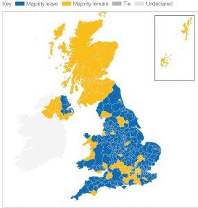 brexit referandum harita