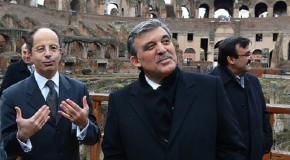 CUMHURBAŞKANI GÜL İTALYA'DA: ROMA'DAN ANKARA'YA AB DESTEĞİ