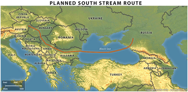 planned south stream route