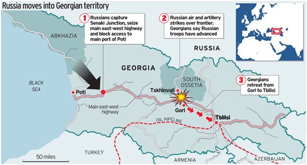 russia moves into georgian territory