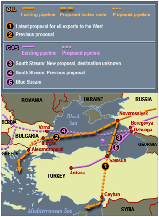 russia-turkey energy maps